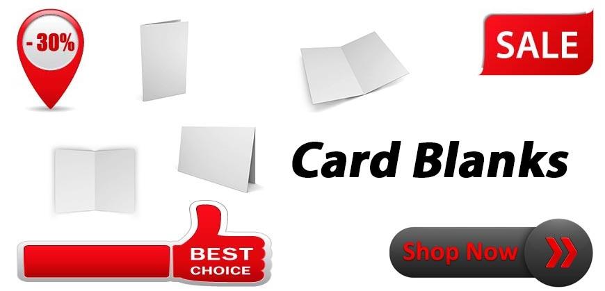 White & Cream Card Blanks